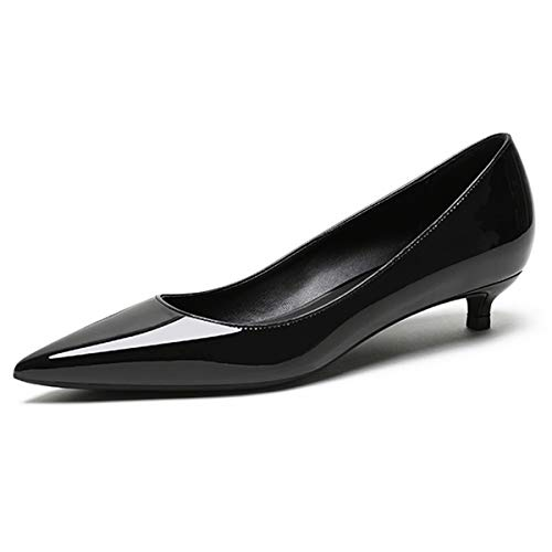 EDEFS Damen Basic Pumps,Kitten-Heel Schuhe,Elegante Pumps Schuhe,3.5cm Low Heel Pumps Größe 44